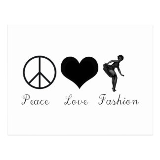Peace Love and Fashion Cool Design! Postcard