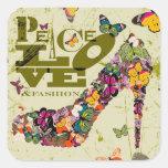 Peace Love and Fashion Graphic Art. Sticker