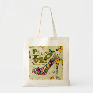 Peace, Love, and Fashion. xo PJ. Budget Tote Bag