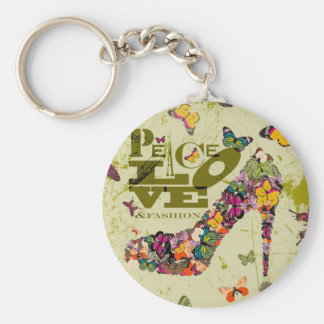 Peace, Love, and Fashion. xo PJ. Keychain
