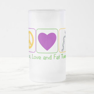 Peace, Love and Fat Tuesday Coffee Mug