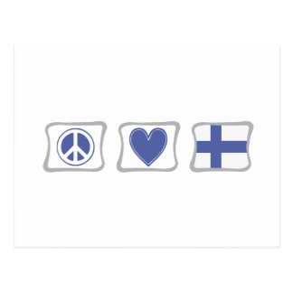 Peace Love and Finland Squares Postcard