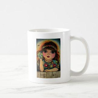 Peace Love and Flower Power Classic White Coffee Mug