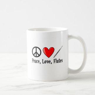 Peace, Love, and Flutes Coffee Mug