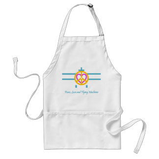 Peace,  Love and Flying Machines Adult Apron