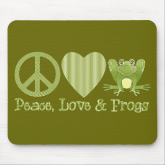 Peace Love and Frogs Mouse Pad