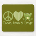 Peace Love and Frogs Mousepad