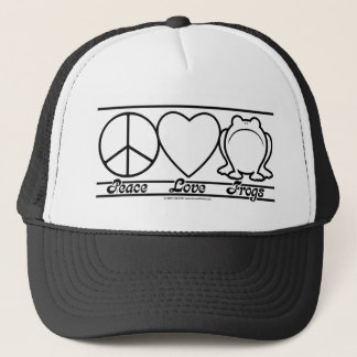 Peace Love and Frogs Trucker Hat
