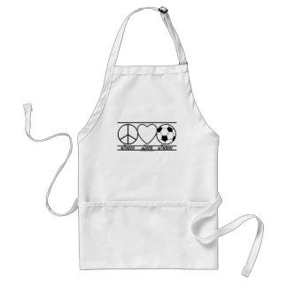 Peace Love and Futbol Adult Apron