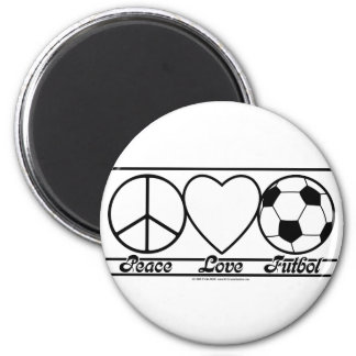 Peace Love and Futbol Magnet