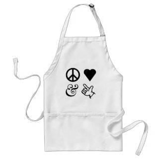 Peace Love And Get Your Guns Up Adult Apron
