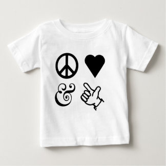 Peace Love And Get Your Guns Up Baby T-Shirt