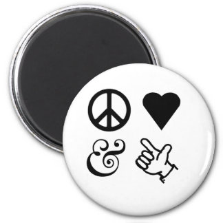 Peace Love And Get Your Guns Up Magnet