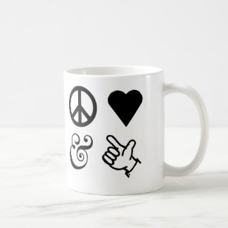 Peace Love And Get Your Guns Up Coffee Mug