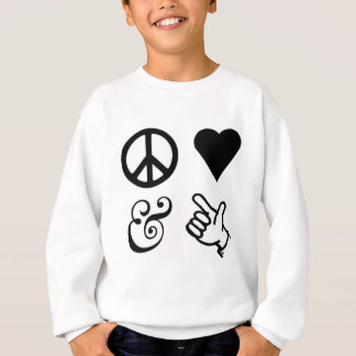 Peace Love And Get Your Guns Up Sweatshirt