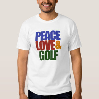 PEACE love and GOLF T-shirts