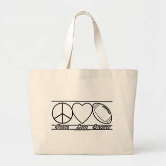 Peace Love and Gridiron Tote Bags