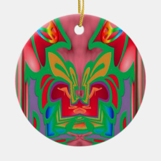 Peace, Love and Groovy Ceramic Ornament