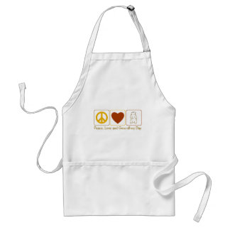 Peace Love and Groundhog Day Adult Apron