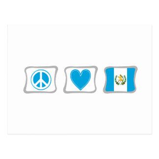 Peace Love and Guatemala Squares Postcard