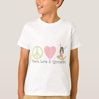Peace, Love and Gymnastics Brunette T-Shirt