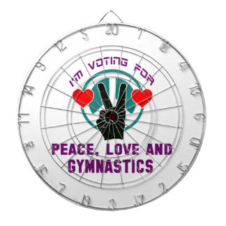 Peace Love And Gymnastics. Dart Board