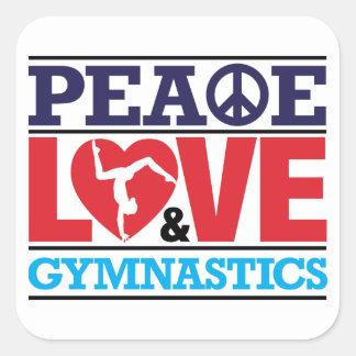 Peace, Love and Gymnastics Sticker