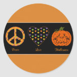 Peace, Love And Halloween Sticker