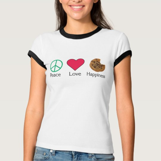 Peace Love and Happiness 2 T-Shirt