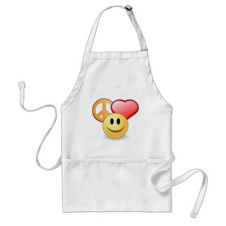 Peace Love and Happiness apron
