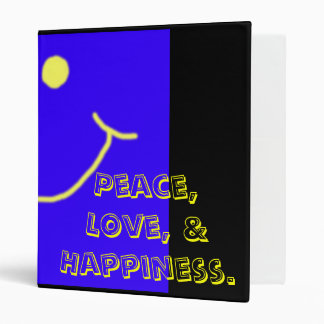 Peace, Love, and Happiness Binder