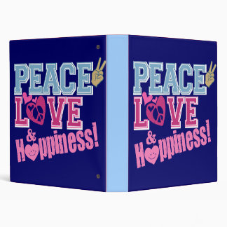 Peace Love and Happiness Binder