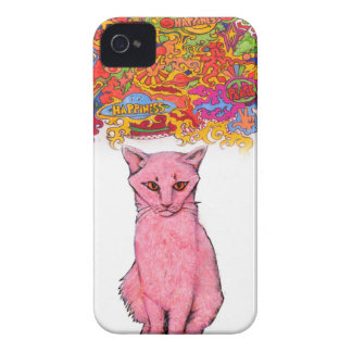 Peace Love and Happiness Kitty Case-Mate iPhone 4 Case