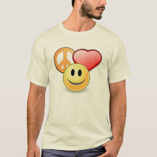 Peace Love and Happiness men's t-shirt