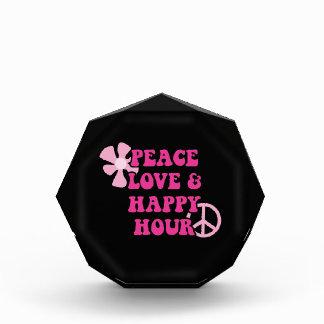Peace Love and Happy Hour Acrylic Award