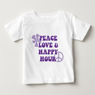 Peace Love and Happy Hour Baby T-Shirt