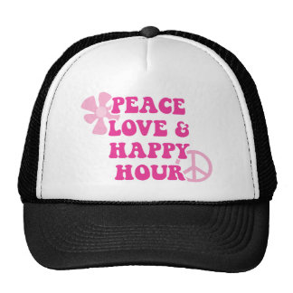 Peace Love and Happy Hour Hats