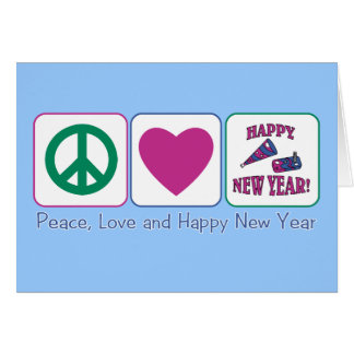 Peace, Love and Happy New Year Card