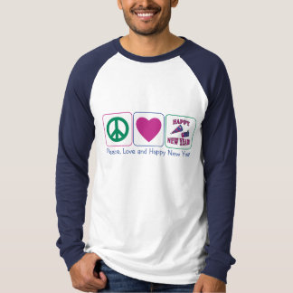 Peace, Love and Happy New Year T-Shirt