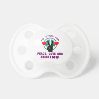 Peace Love And Hiking. BooginHead Pacifier