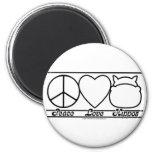 Peace Love and Hippos Fridge Magnet