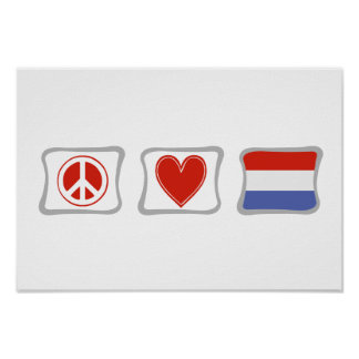 Peace Love and Holland Squares Poster