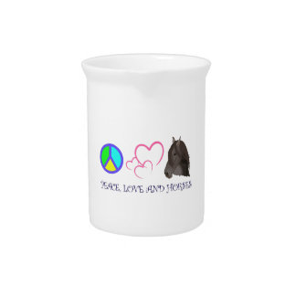 PEACE LOVE AND HORSES BEVERAGE PITCHERS