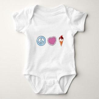 Peace Love and Ice Cream Baby Bodysuit
