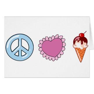 Peace Love and Ice Cream Card