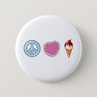 Peace Love and Ice Cream Pinback Button