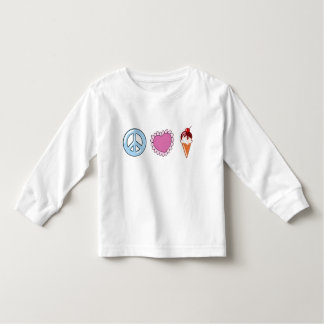 Peace Love and Ice Cream Toddler T-shirt