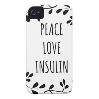 Peace Love and Insulin iPhone 4 Cover