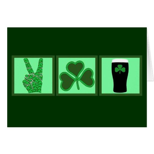 Peace,love and Irish beer Card