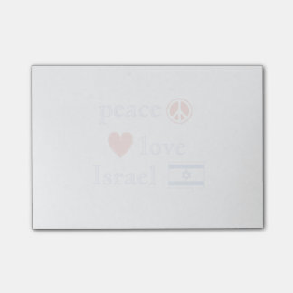 Peace Love and Israel Post-it Notes